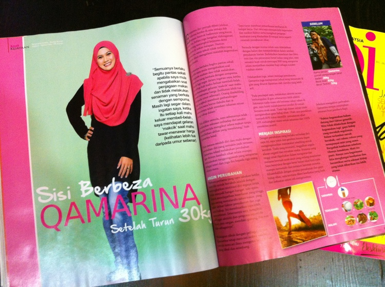 Qamarina lost 30kg and she feel awesome!