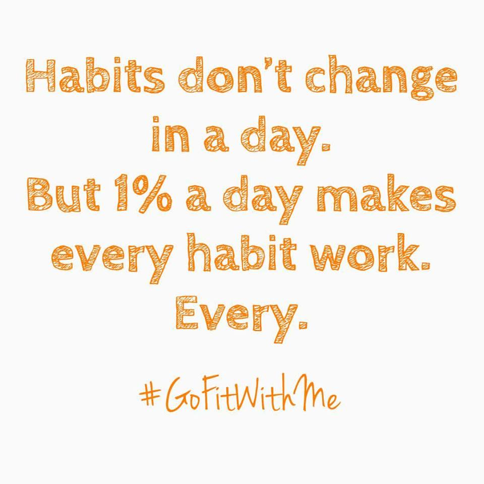 Habits don't change in a day.