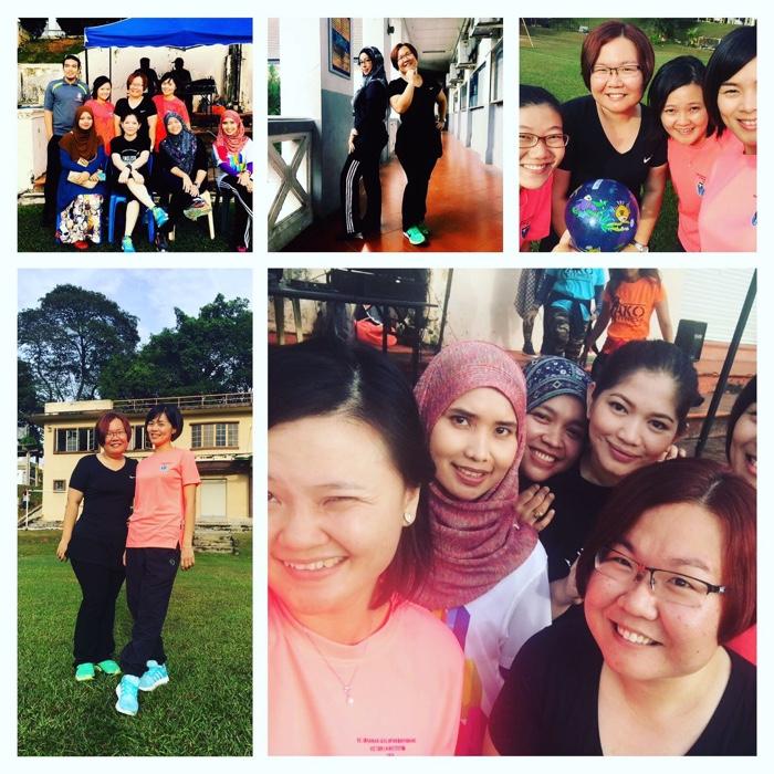 Teacher Tan bersama rakan-rakan di Victoria Institut. Memang osem!