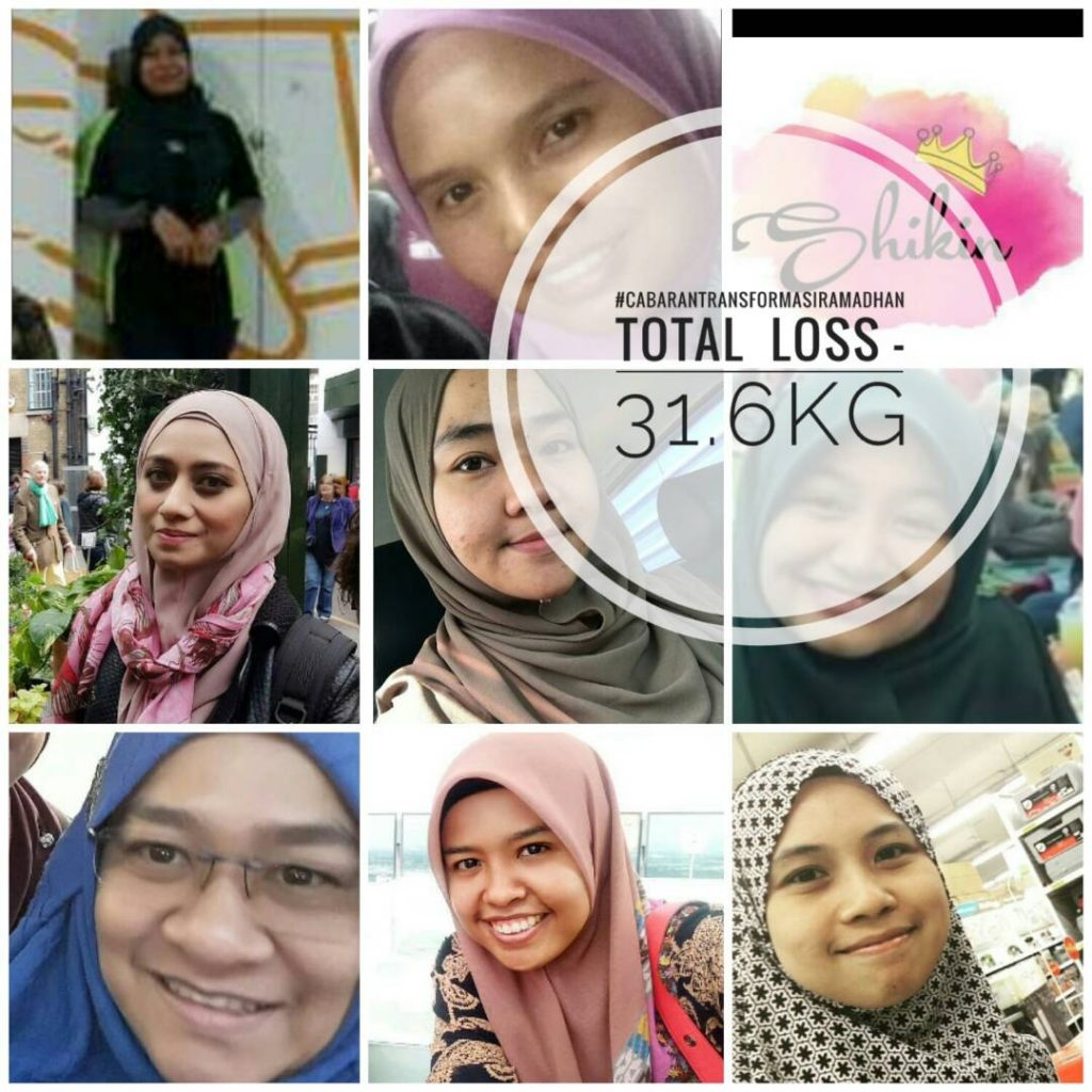 Peserta Cabaran Transformasi Ramadhan 2017