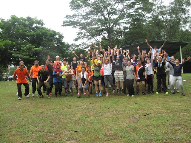 Group photo for Bootcamp at Kota Damansara Community Forest