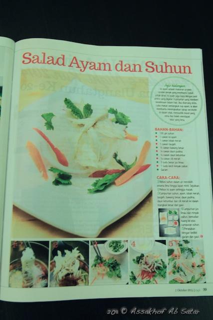 GetFitWithMe featured in Majalah Rapi - Chicken & Glass Noodle Salad