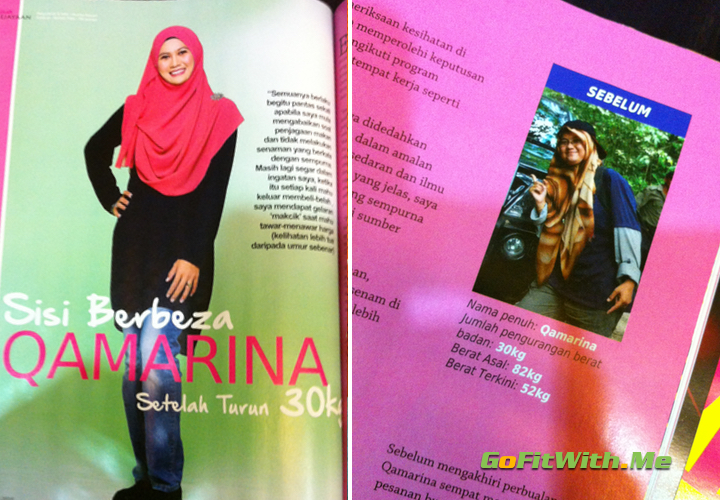 Qamarina's stories on how she loss 30kg.