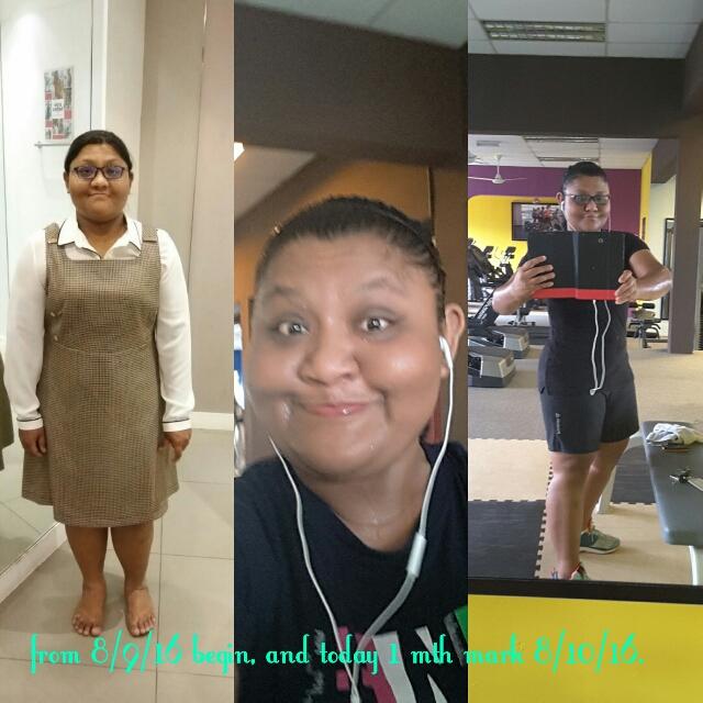 Jennifer kebetulan ambil gambar sebulan yang lalu. Alhamdulillah turun berat 4kg. Kipidap!